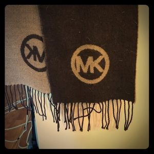 Michael Kors wool blend brown scarf